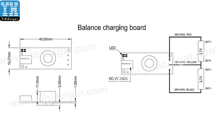 Dimention of Dual battery Balance Charging Board yihi 9v balancing charger board Yihi SX at bayanpartner.co