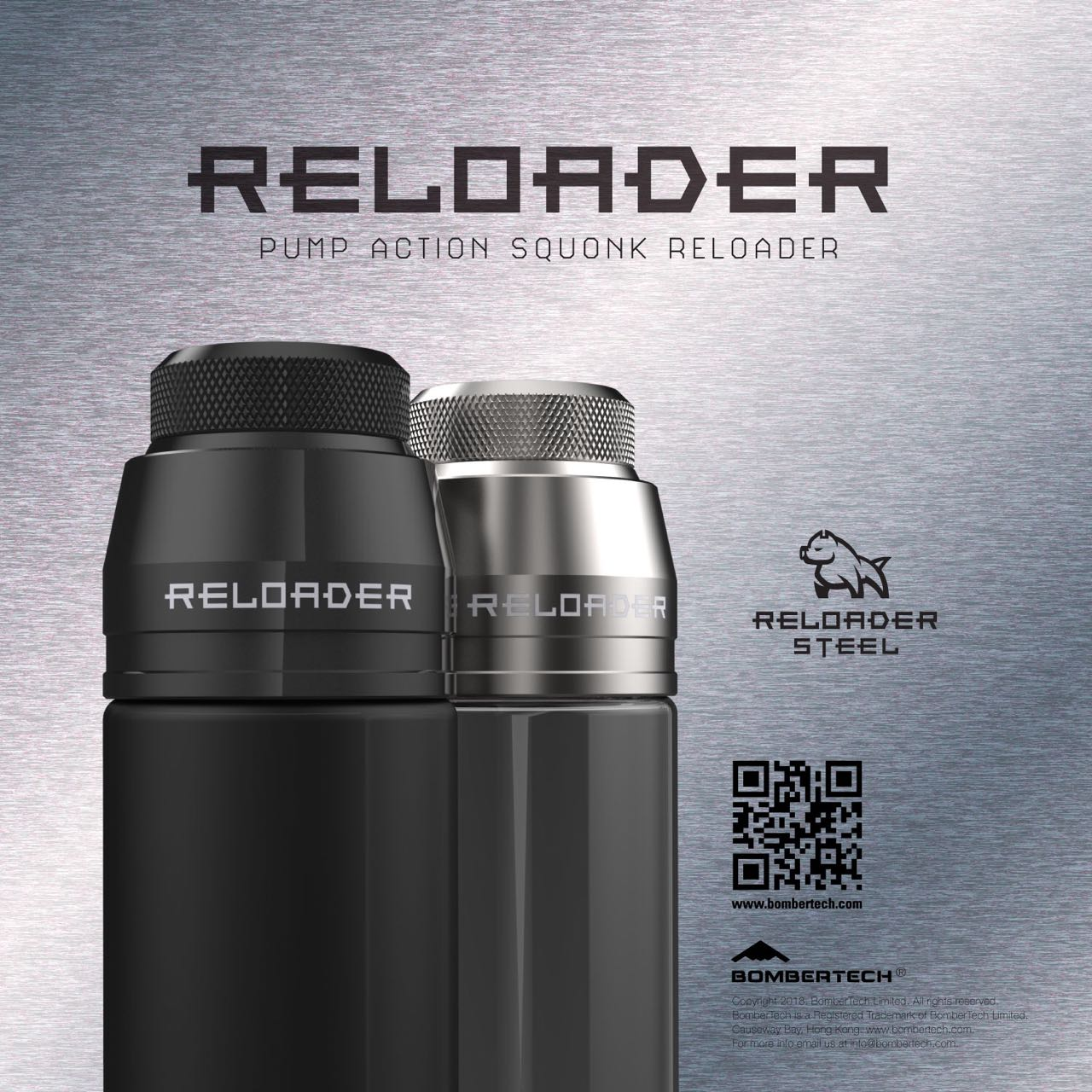 Reloader - SS Refill Bottle Cap - Cap Only - Fits all 60ml Chubby Gorilla Bottles